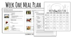 Full week meal plan with grocery list and recipes! Free PDF printable download :D