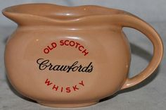 Crawford's Old Scotch Whisky Water Jug, hcw Burleigh Ware, Excellent Condition