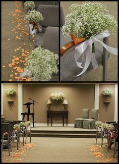@FarisaSanchez @foramoreevents Kingdom Hall decorations, Isle, wedding, calla lilies, rose petals, babies breath,