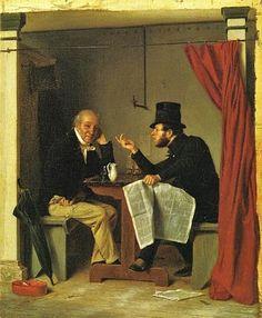 Richard Caton Woodville.  Politics in an Oysterhouse, 1848.