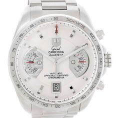 Tag Heuer Grand Carrera White Dial Automatic Mens Watch CAV511B