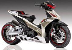 Modifikasi Motor Revo 110 FIt Concept Motorcycles, Cars And Motorcycles, Yamaha Scooter, Honda Cub, Bike Design, Sport Bikes, Custom Bikes, Motocross, Motorbikes