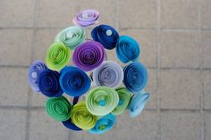 April Showers - Paper Rosettes Bouquet Spring Collection 2011 by MyBohemian Summer