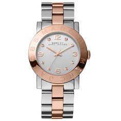 Marc Jacobs Women's 'Amy' Crystal-accented Watch