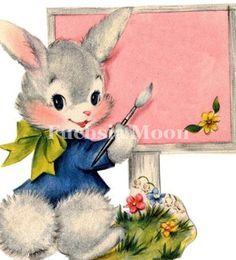 Some Spring Inspiration Easter Gift, Easter Crafts, Easter Bunny, Easter Card, Happy Easter, Bunny Images, Spring Images, Easter Holidays, Vintage Greeting Cards