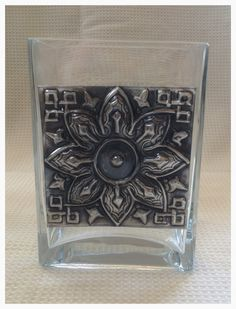 Candice made this beautiful pewtered vase in her first class at Pewter Me Blue www.fb.com/pewtermeblue
