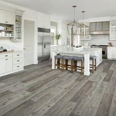 Laminate Flooring In Kitchen, Waterproof Laminate Flooring, Grey Flooring, Gray Hardwood Floors, Flooring Ideas, Farmhouse Flooring, Plywood Floors, Modern Flooring, Grey Vinyl Plank Flooring
