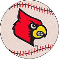 Fanmats Louisville Cardinals Baseball-Shaped Mat