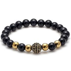 Exclusive King's Onyx & Hematite - Men's Wrist Wear