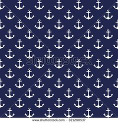 Anchors seamless pattern - Illustration - stock vector