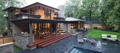 """This is the kind of """"modern home"""" I could get into. Has both modern and classic details, recalls a Northwest Prairie style. Lots of light, windows, economy of space. The Mission 