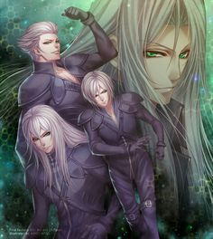 Kadaj, Loz, and Yazoo and Sephiroth (Final Fantasy VII Advent Children)