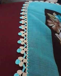 Crochet Border Patterns, Crochet Diagram, Baby Knitting Patterns, Saree Tassels Designs, Saree Kuchu Designs, Thread Crochet, Crochet Lace, Free Crochet, Diy Crafts Crochet