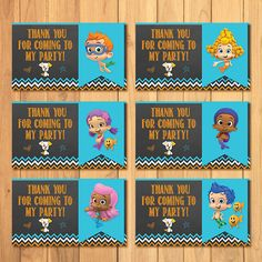 Bubble Guppies Party Tags Chalkboard * Bubble Guppies Birthday * Bubble Guppies Party Tags * Bubble Guppies Favors by SometimesPie on Etsy https://www.etsy.com/listing/215823452/bubble-guppies-party-tags-chalkboard