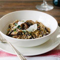 Mushroom Quinoa Risotto    Sinful (Tasting!) Whole-Grain Risotto Recipes