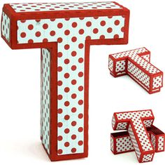 letter 'T' box to fill with your favorite goodies or jazz it up as decor! A Snapdragon Snippets design.