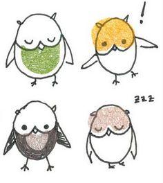 Thumb print art : how to draw an owl