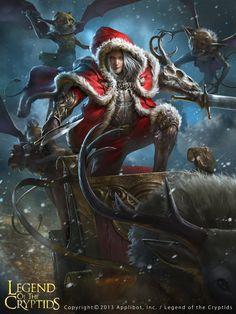 Artist: Jing Hui aka zeen84 - Title: merry xmas - Card: Blizzard Fighter Modesto