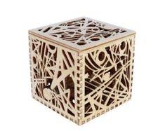 Laser cut Octagonal Star Box made from Baltic Birch Plywood Laser Cut Box, Laser Cutting, Plywood Boxes, Baltic Birch Plywood, Little Boxes, Flower Basket, Wood Toys, Star Designs, Box Design