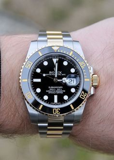 Rolex Submariner Gold 116613LN. Either this or the Two Tone GMT Master II. Soon baby.....