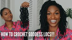 How to Crochet Goddess Locs in less than 2 hours + Giveaway! - YouTube  I'm trying to experiment with more problems entice styling so if I win this would be awesome!!