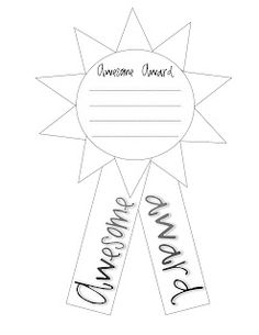 AWESOME AWARDS: Have the students draw names and make an award for that person. Good for last week of school.