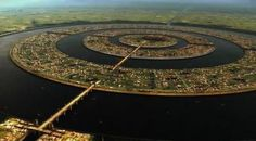 Atlantis - the supposed circular description of Atlantis, based on Plato. He was told by the Egyptians.