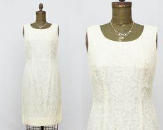 Pale Yellow Lace Dress  Short Lace Wedding by TheBirdcageVintage