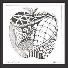 zentangle zentangles easy zen patterns doodles google simple doodle tangle drawings shape apple repetitive coloring tangles heart drawing pages method