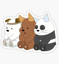 we bare bears stickers Stickers Cool, Stickers Kawaii, Tumblr Stickers, Printable Stickers, Laptop Stickers, We Bare Bears Wallpapers, Cute Wallpapers, Kawaii Doodles, We Bear