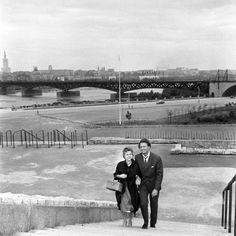 Most Średnicowy 1959  #warszawa #warsaw #most #bridge #rzeka #river #wisła #PKiN #PałacKultury #Stadion