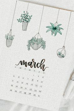 dm for pic credit シ︎ March 3rd, Bullet Journal Spread, 9 And 10, Tableware, Bujo, Succulents, Art, Art Background, Dinnerware