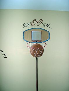 Basketball Bedroom Theme Ideas | Sports Theme Murals for Boys' Rooms | Muralist Debbie Cerone