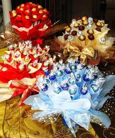 Kafijas krūze: Saldais konfekšu pušķis (candy bouquet)