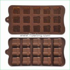 Encontre mais Forma de bolo Informações sobre Tc praça Silicone Chocolate moldes Jelly Mold Ice bolo moldes Bakeware, de alta qualidade Forma de bolo de Cake Tools Supplier em Aliexpress.com