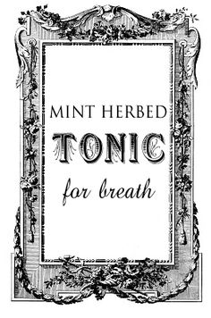 Mint Herbed Tonic for Breath