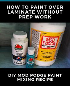 This works for painting almost anything with no prep - wood, laminate, even metal. Way cheaper than chalk paints! This works for painting almost anything with no prep - wood, laminate, even metal. Way cheaper than chalk paints! Diy Furniture Decor, Diy Furniture Projects, Repurposed Furniture, Wood Furniture, Diy Projects, Furniture Repair, Furniture Refinishing, Refurbished Furniture, House Projects