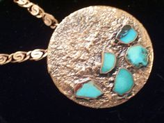 Rare Huge Vintage BELL Copper Turquoise Chunk by TheCopperCat, $65.00
