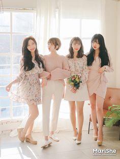 Korean Fashion Work, Korean Fashion Trends, Korea Fashion, Asian Fashion, Pink Fashion, Teen Fashion, Fashion Beauty, Fashion Looks, Simple Black Dress