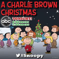 """FYI, There will be """"A Charlie Brown Christmas"""" coming up on ABC Dec at 8 pm pm Central. Enjoy it! Charlie Brown Cafe, Charlie Brown Halloween, Charlie Brown Christmas, Christmas Tv Shows, Christmas Music, Christmas Movies, Christmas Things, Christmas Pictures, Peanuts Christmas"""