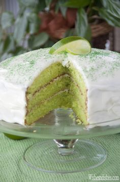 Triple Layer Key Lime Cake | Wishes and Dishes