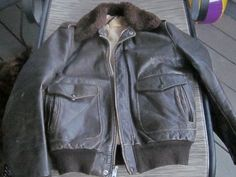 A Schott I-S-674-M-S Flight Bomber Leather Jacket N.Y.C Size 40 1940's -1950's