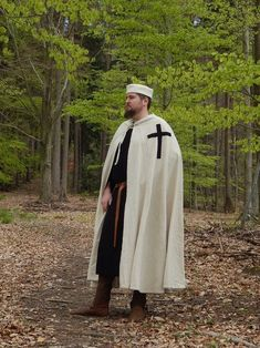 Duitse Orderbroeder in civiele kleding, gebaseerd op een afbeelding in een kerk uit 1206