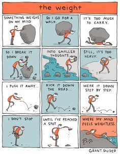 Words and Pictures by Grant Snider Life Comics, Comics Story, Little Library, English Vocabulary Words, Word Of Advice, Coping Skills, Yoga, Comic Strips, Cool Words