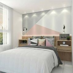 43 cute and girly bedroom decorating tips for girl 11 - home is where the heart is :) - Bedroom Decorating Tips, Diy Home Decor Bedroom, Bedroom Wall, Bedroom Ideas, Kids Room Paint, Girl Bedroom Designs, Dream Rooms, New Room, Child's Room