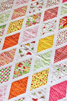 Clementine Quilt by Bijou Lovely Fabric by Dear Stella Available at Fat Quarter Shop