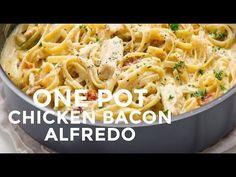 One-Pot Chicken Bacon Alfredo Pasta - Good Cook Good Cook
