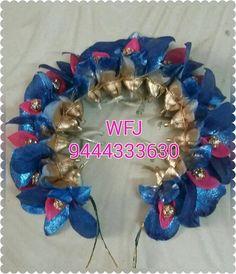 Flower Garland Wedding, Flower Garlands, Bridal Flowers, Flowers In Hair, Fresh Flowers, Flower Hair Accessories, Wedding Hair Accessories, Hair Decorations, Flower Plates