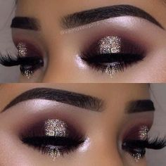 23 Glitzy New Year's Eve Makeup Ideas: #21. STYLISH SPARKLY EYES; #eyemakeup; #makeup