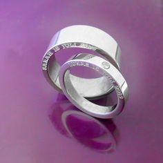 For Love. #Engagementrings #personalized #Förlovningsringar med personlig gravyr.  Handgjort & unikt från Älskade Barn. www.alskadebarn.se